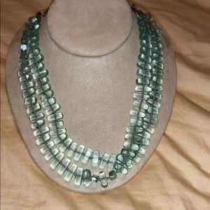 Vintage Talbots coke glass necklace 16-18 inch